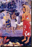 La Orana Maria Stretched Canvas Print by Paul Gauguin