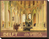 Delft Stretched Canvas Print by Anton van Anrooy