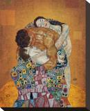 Familjen Sträckt kanvastryck av Gustav Klimt