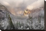 Snowstorm in Yosemite Stretched Canvas Print by Harold Davis