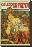 Cycles Perfecta Stretched Canvas Print by Alphonse Mucha