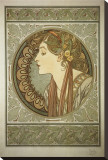 Le Laurier Stretched Canvas Print by Alphonse Mucha