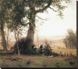 Rebellion, Picketline in Virginia Stretched Canvas Print by Albert Bierstadt