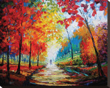 Autumn Impressions Trykk på strukket lerret av Maya Green