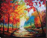 Autumn Impressions Sträckt kanvastryck av Maya Green