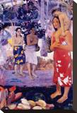 La Orana Maria Stretched Canvas Print by Paul Gauguin