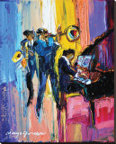 Jazz for Lovers Reproduction transf&#233;r&#233;e sur toile par Maya Green