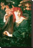 La Ghirlandata Stretched Canvas Print by Dante Gabriel Rossetti