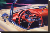 1958 Corvette Stretched Canvas Print by Graham Reynolds