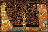 The Tree of Life (Interpretation) Stretched Canvas Print by Gustav Klimt