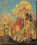 Høst i Orillia|Autumn in Orillia Trykk på strukket lerret av Franklin Carmichael