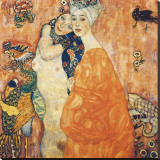 The Girlfriends Reproduction transférée sur toile par Gustav Klimt