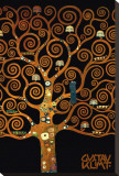 In the Tree of Life Reproduction transférée sur toile par Gustav Klimt
