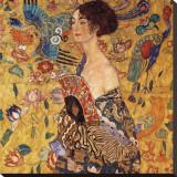 Gustav Klimt - Yelpazeli Kadın - Şasili Gerilmiş Tuvale Reprodüksiyon