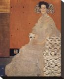 Portrait of Fritza Riedler Reproducción en lienzo de la lámina por Gustav Klimt