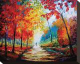 Autumn Impressions Lærredstryk på blindramme af Maya Green