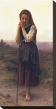 The Little Shepherdess Stretched Canvas Print by William Adolphe Bouguereau