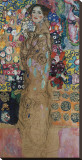 Portrait of Ria Munk III (Frauenbildnis) Stretched Canvas Print by Gustav Klimt