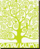 L'arbre de vie vert Reproduction sur toile tendue par Gustav Klimt