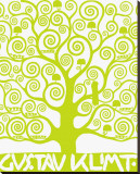 Green Tree of Life Stretched Canvas Print by Gustav Klimt