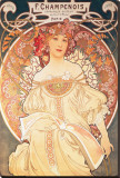 F. Champenois, France, 1898 Stretched Canvas Print by Alphonse Mucha