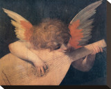 Muscian Angel, c.1520 Stretched Canvas Print
