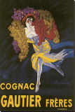 Cognac Gautier Freres Stretched Canvas Print by Leonetto Cappiello