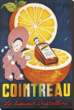 Cointreau, La Liqueur Cristalline Stretched Canvas Print by Jean A. Mercier