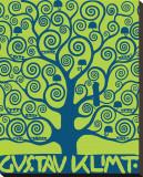 Blue Tree of Life Reproduction transférée sur toile par Gustav Klimt