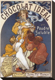 Chocolat Ideal en Poudre Soluble Stretched Canvas Print by Alphonse Mucha