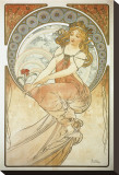 The Arts: La Peinture Stretched Canvas Print by Alphonse Mucha