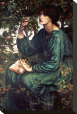 Day Dream Stretched Canvas Print by Dante Gabriel Rossetti