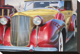 1938 Packard Phaeton Body, San Francisco Stretched Canvas Print by Graham Reynolds