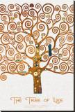 The Tree of Life Pastiche Marzipan Trykk på strukket lerret av Gustav Klimt