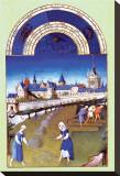 Les Riches Heures du Duc de Berry, Juin Stretched Canvas Print