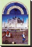 Les Riches Heures du Duc de Berry, Octobre Stretched Canvas Print
