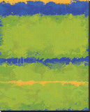Carmine Thorner - No. 1967 Olive Green Blue Reprodukce na plátně