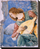 Angelo Musicante Stretched Canvas Print by Melozzo da Forl&#237; 