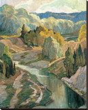 The Valley, c.1921 Stretched Canvas Print by Franklin Carmichael