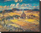 Saint-Hilarion Stretched Canvas Print by Arthur Lismer
