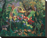 The Tangled Garden Sträckt Canvastryck av J. E. H. MacDonald
