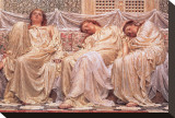 Dreamers Stretched Canvas Print by Albert Moore