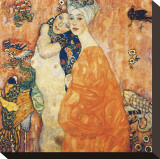 The Girlfriends Stretched Canvas Print by Gustav Klimt
