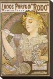 Lance Parfum Stretched Canvas Print by Alphonse Mucha