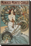 Monaco Monte-Carlo Stretched Canvas Print by Alphonse Mucha