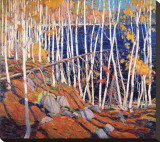 In the North Land Reproduction transférée sur toile par Tom Thomson