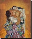La familia Reproducción en lienzo de la lámina por Gustav Klimt
