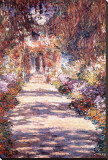 Le Jardin a Giverny Stretched Canvas Print by Claude Monet