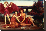 Love's Passing Stretched Canvas Print by Evelyn De Morgan