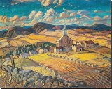 Saint-Hilarion Stretched Canvas Print by Arthur Lismer